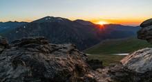 Sunrise Over Dramatic Mountains