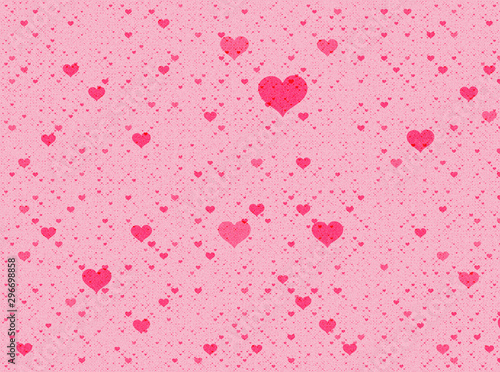 painted red hearts backgrounds - 296698858