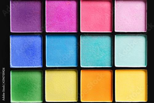Photo Colorful eyeshadows palette