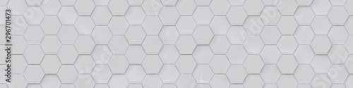 Abstract Hexagon Geometric Surface Loop 1A: light bright clean minimal hexagonal grid pattern, random waving motion background canvas in pure wall architectural white.