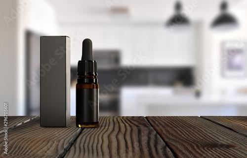 Cuadros en Lienzo  Black Dropper bottle mockup