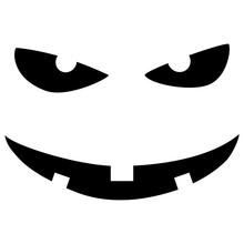 Halloween Pumpkin Carved Face ...