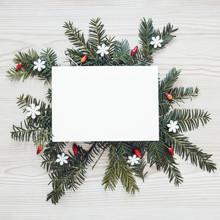 Paper Sheet Of Conifer Sprigs