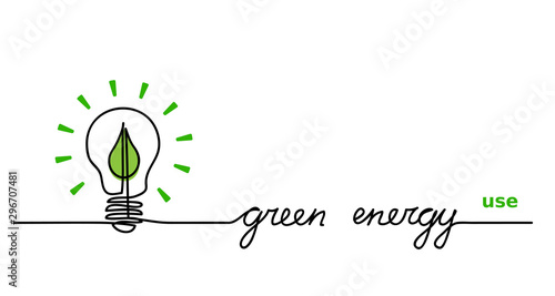Fotomural  Use green energy
