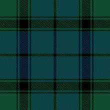 Beautiful Classic Green Blue Plaid Pattern Vector