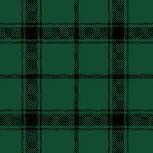 Beautiful Classic Green Plaid Pattern Vector