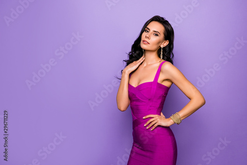 Portrait of her she nice-looking attractive lovely exquisite charming luxury gra Fototapet