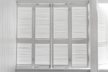 White Rustic Wooden Shutters, White Wooden Blind Background