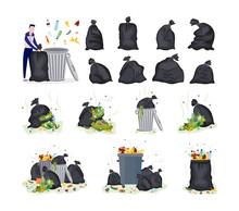 Set Of Garbage Items - Plastic...