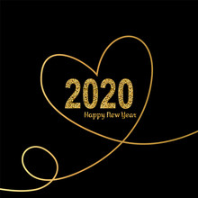Happy New Year Gold Number 202...