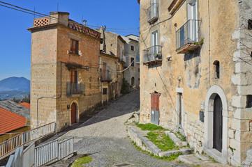 Fototapeta na wymiar Province of Benevento, Italy, 02/06/2016. A tourist trip to a medieval village.
