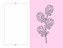 Tarjeta Botánica Con Flores ...