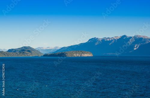 Lake Nahuel Huapi and Villa La Angostura town, Argentina Canvas Print