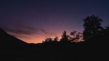Immagine Del Cielo Al Tramonto Con Luce Viola E Rosa