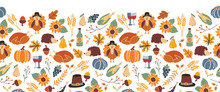 Thanksgiving Seamless Vector B...