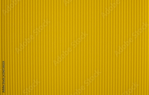 Cuadros en Lienzo Yellow color corrugated paperboard texture and background
