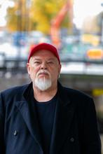 Bearded Man In Red Cap
