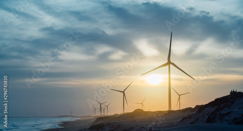 風力発電 Fototapeta