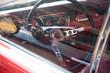 Interior de automóvil deportivo clásico americano