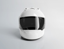 White Motorcycle Helmet Isolat...