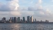 Zooming Out Timelapse of Mumbai's Ever-Growing Beautiful Skyline on a beautiful day with clouds taken from Bandra Reclamation. MUM00020.