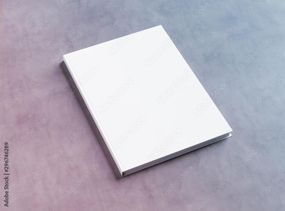 Fototapety, obrazy: Blank hardcover book mockup on concrete 3D rendering
