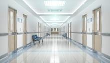 Long Hospital Bright Corridor ...