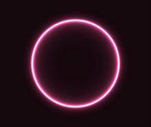 Neon Circle Pink Glowing Geom...