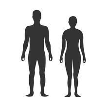 Male And Female Body Silhouett...