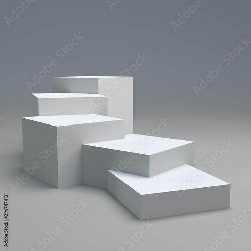 Fototapeta Stand for advertise product on website, Empty Platorm Scene Studio Or Pedestal F