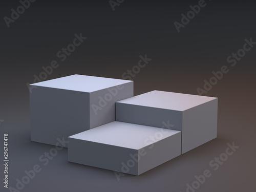 Obraz na plátně  Stand for advertise product on website, Empty Platorm Scene Studio Or Pedestal F