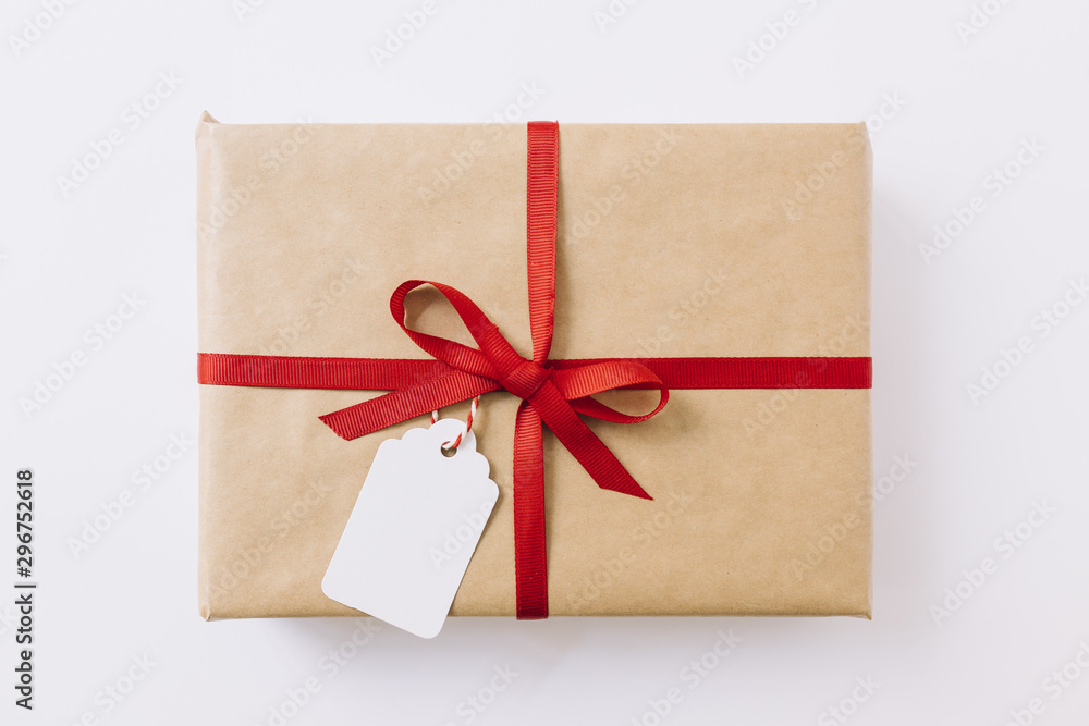 Fototapeta Big gift box with ribbon