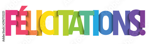 Fototapeta Bannière typographique vecteur coloré FELICITATIONS!