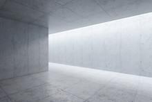 Blank Concrete Space Interior,...