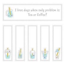 Set Of Vector Tea Labels, Book...