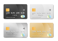 Plastic Bank Card Design Templ...