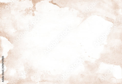 Photo  Watercolor background with sand splashes for artistic banner, template postcard design