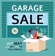 Garage Sale Ad Poster Template...