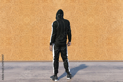 Dangerous Hooded Hacker Breaks into Government Data Servers and Infects Their System with a Virus Canvas Print
