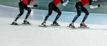 Legs Group Athletes Ice Skater...