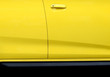 canvas print picture - yellow door of car with handle