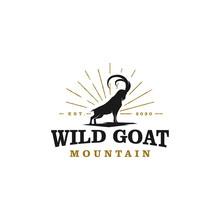 Wild Goat Ram Silhouette Logo ...