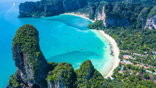 Aerial View Railay Beach And P...
