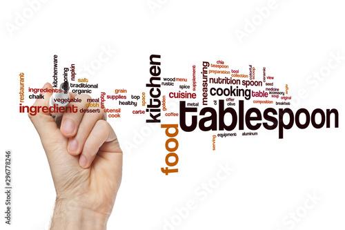 Vászonkép Tablespoon word cloud