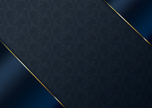 Luxury Dark Blue And Gold Back...