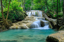 Waterfall Level 2, Erawan National Park, Kanchanaburi, Thailand