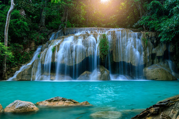 FototapetaWaterfall level 2, Erawan National Park, Kanchanaburi, Thailand