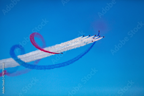 Fototapeta Raf Red Arrow at airshow.