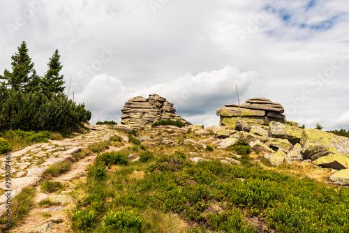 Fotografie, Obraz  Divci kameny rocks in Krkonose mountains on czech - polish borders