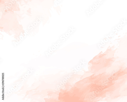 Pink soft watercolor abstract texture. Vector illustration. Tableau sur Toile
